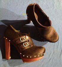 "UGG Australia ILLANA Black 5"" Heel Ankle Bootie Shoes Women 6 Lamb Platform Pump"
