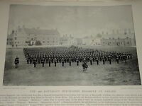 1896 2ND Battalion Devonshire Regimiento On Desfile Ejército
