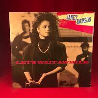 "JANET JACKSON Let's Wait Awhile 1986 UK 3-track 12"" Vinyl Single EXCELLENT CONDI"