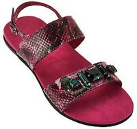 Vionic By Orthaheel Women's Dupre Raspberry Snake Sandals Size 8