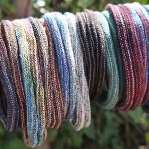 Colourful Cotton Dreadlock Hair Ties | Dread Tie Thin Headbands | Set Of 2