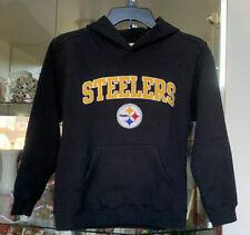 NFL Team Apparel Boys L 12/14 Pittsburgh Steelers Hoodie Black Hooded Sweatshirt
