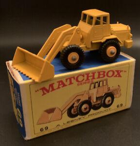 Matchbox Series (Lesney, England) #69 HATRA TRACTOR SHOVEL NEW w/Orig. Box