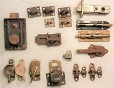 Nice Lot Of 19 Vintage Restoration Hinges Locks Latches Yale And Other Parts