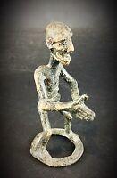 Insolite - statuette ancienne en bronze Burkina Fasso (cire perdue) vers 1950/60