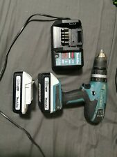 MAKITA CORDLESS COMBI HAMMER DRILL DRIVER HP457D twin battery and charger set