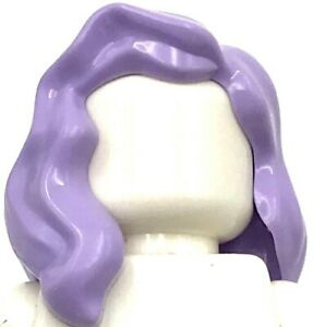 Lego New Lavender Minifigure Hair Female Mid-Length Part over Right Shoulder