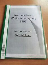 Werkstatt-Handbuch Greenland Maishäcksler MH 90 S Twin 180 S SU Quattro 1996/97