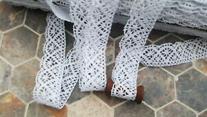 10m Vintage style Cotton crochet lace trim WHITE Ribbon Sewing hand Crafts