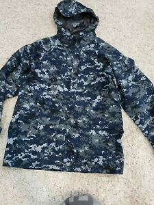 USN US Navy Working  Blue GoreTex Parka Jacket XS S Coat Waterproof camo w hood