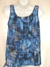T.H.E  Tankini Swimwear  TOP  BLUES  Size 10  Drawstring  MATERNITY