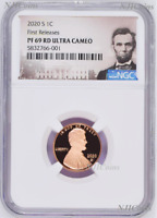 2020 S Proof LINCOLN CENT Penny NGC PF69 RD First Releases Portrait Label