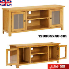 TV Cabinet TV Unit Stand With glass windows and 2 doors Living Room Furniture