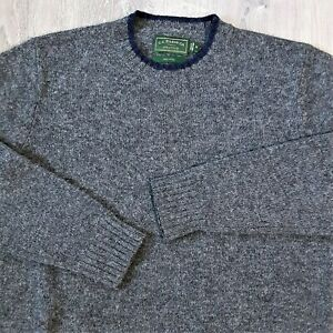 CC Filson Co Crew Neck Knit Sweater 100% Wool Gray Fleck Outdoor Men's M Medium