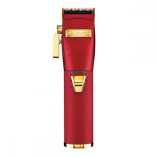 BaByliss PRO Cordless Clipper Influence Line Hawk the Barber Red & Gold FX870R