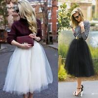 Women Girl 5Layers Tutu Skirt Fancy Dress Fairy Party Princess Tulle Ballet Hot