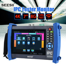 "4K 7"" SEESII 8600PLUS 10/100M auto adjust IPC Camera Monitor Tester PTZ Control"