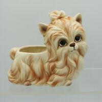 Shih Tzu Hair Bow Dog Planter Vintage Napcoware Napco Japan Ceramic Figurine
