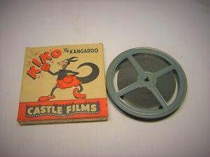 "Castle Films 16mm Kiko the Kangaroo ""Danger On Ice"" B&W Silent Movie #782"