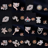 Womens Fashion Rhinestone Inlaid Cute Brooch Pin Jewelry Party Xmas Gift Perfect