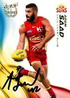✺Signed✺ 2016 GOLD COAST SUNS AFL Card ADAM SAAD