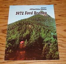 1972 Ford Bronco Foldout Sales Brochure 72