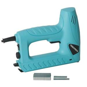 ToolTronix Electric Tacker Stapler Brad Nail Gun 2-In-1 Staple Nailer Kit