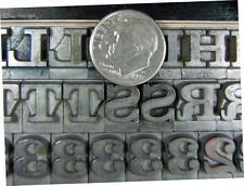 Vintage Metal Letterpress Printing Type  ATF 36pt Craw Clarendon Sorts  C41  16#