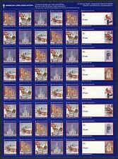 2000 USA Christmas Seals Snow Scenes (2000-2) Sheet of 48 backing paper - MNH