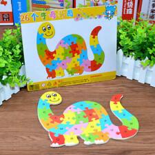 ABC Puzzle Alphabet Dino Shape Wooden Jigsaw kids Fun Educational Learning Toys