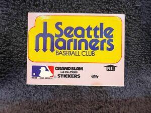VINTAGE 1979 Seattle Mariners Fleer Grand Slam Team Logo Sticker Card, NMMT!!