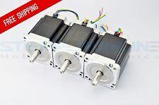 US Ship 3pcs Nema 34 CNC Step Motor Dual Shaft 1204oz.in(8.5Nm) CNC Router Kit