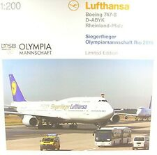 'herpa 558402Lufthansa Boeing 7478in an Rcont Inside Sieger Olympia Rio 20...