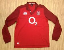 England Rugby Canterbury Long Sleeve Jersey Top ~ Men's Medium M ~ 2015 / 2016