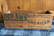 OLD  KRAFT- PHENIX  COMPANY CORP CHICAGO ILL 5 LB AMERICAN CHEESE WOOD BOX CRATE