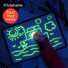 Night Light Drawing Tablet Board w/ Light-Fun Fluorescent Pen Child Puzzle Toy