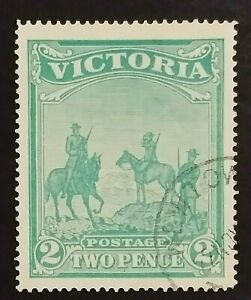 SG375 - 1900 Victoria 2d Two Pence Emerald-green Stamp - used CV $450 - 357a