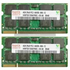 HYNIX 8GB 2x4GB PC2-6400 DDR2 800Mhz portátil Memoria Sodimm Garantía De Por Vida