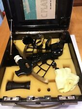 Sextant by C Plath Hamburg Germany with original hard case and 4X40 Scope