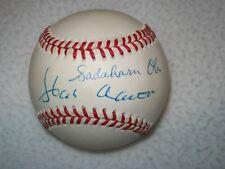 HANK AARON & SADAHARU OH SIGNED AUTOGRAPHED SIGNED NL COLEMAN BASEBALL JSA