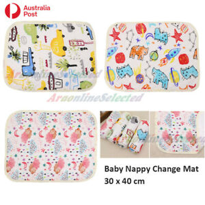 Baby Nappy Change Mat Waterproof 3 Layer Diaper Changing Travel Portable 30x40cm