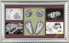 Baby Keepsake DIY 3D Casting kit 100% Safe & Shadowbox photo frame SilverP