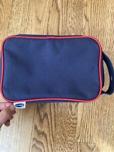 Hartmann Luggage Navy Red Shaving Bag Toilettries Handle Canvas