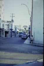 #5 35mm slide - Vintage - Collectibles - Photo - street view people hotel sign