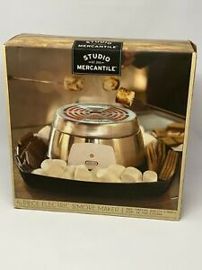 STUDIO MERCANTILE 6 PIECE ELECTRIC S'MORE MAKER FOR INDOORS TABLETOP READY