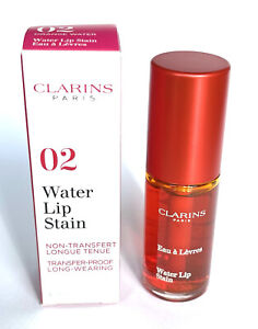 Clarins Water Lip Stain 02 Orange Water Full Size 7ml Non Transfer Long Lasting