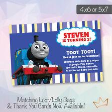 Personalised Thomas the Tank Engine Birthday Party Invitation Invites