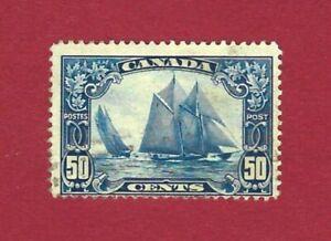 CANADA 158 Schooner Bluenose, sound with light cancel, Catalog value $65.00