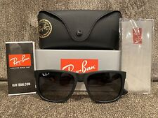 NEW Ray-Ban RB4165 Justin 622/T3 54MM Black/Gray Gradient POLARiZED Sunglasses