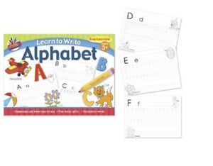 Learn to Write Letters Alphabet  Book Writing Pad Children's Book trace book 3+